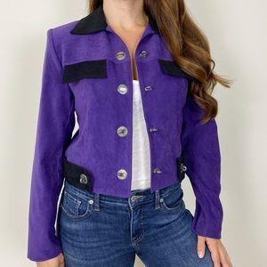 VINTAGE GANTOS Purple Western Faux Suede Jacket 4